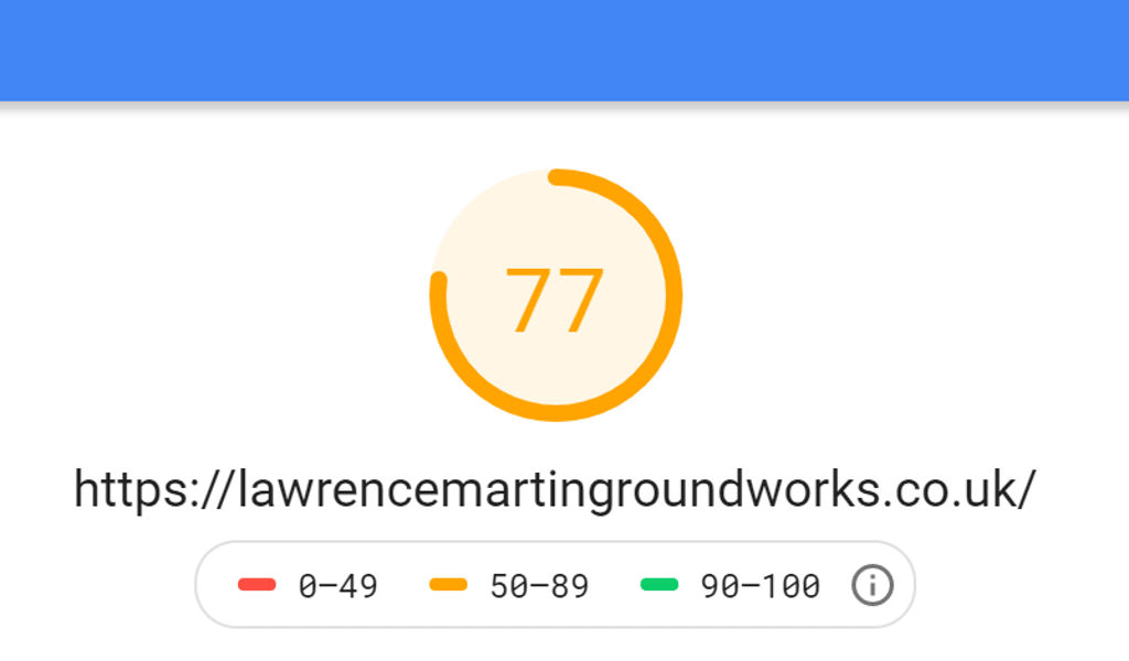 Lawrence Martin Groundworks Mobile Score
