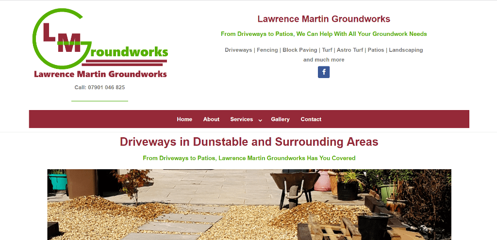 Lawrence Martin Groundworks Website Design