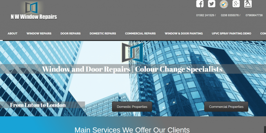 NW Window Repairs Website Design