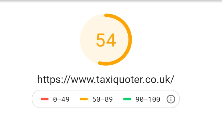 Taxi Quoter Mobile Score