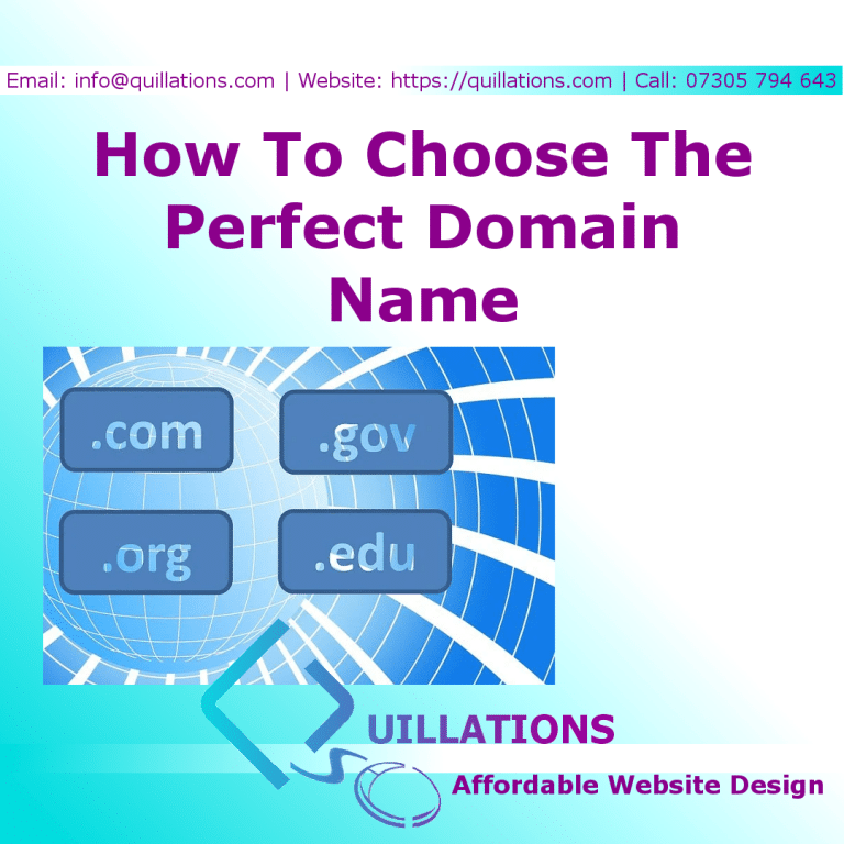 How To Choose The Perfect Domain Name In 5 Steps