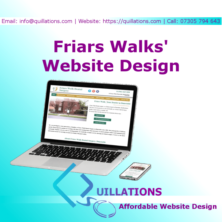 Friars Walk Dental Surgery – Our Latest Website Design