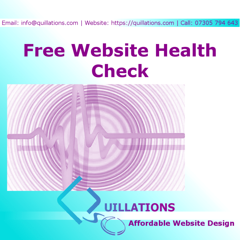Quillations Website Health Check