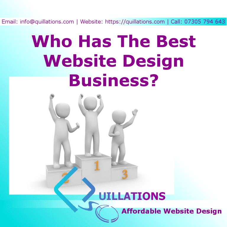 Who Has The Best Website Design Business, And Why?