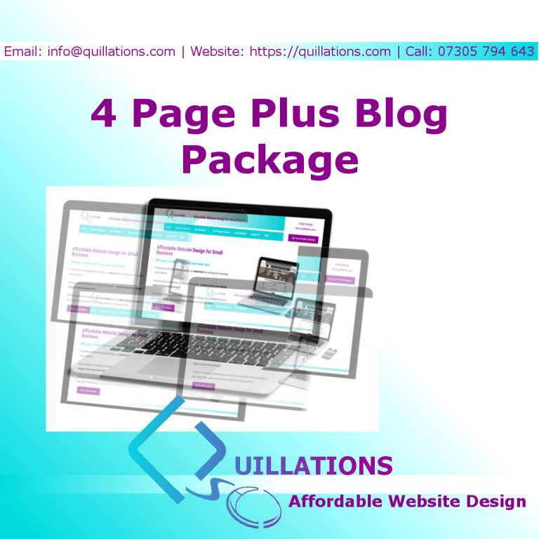 4 Page Plus Blog Package
