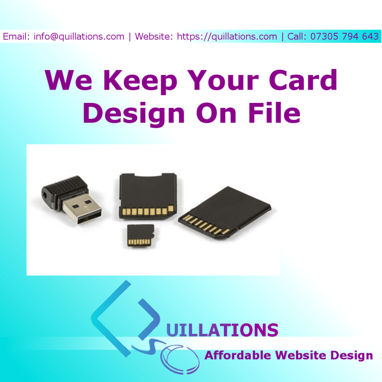 Keeping Your Business Card On File