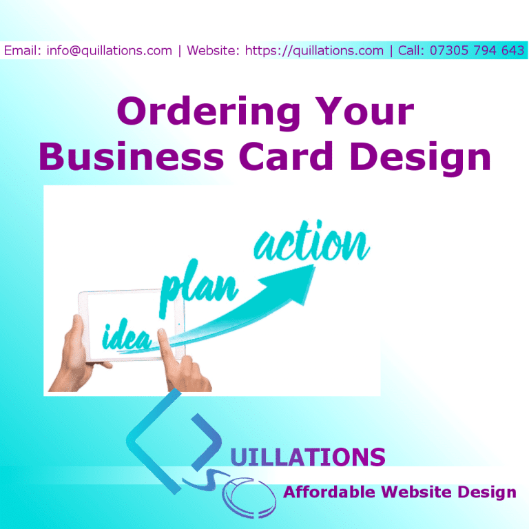 Ordering Your Business Card Design