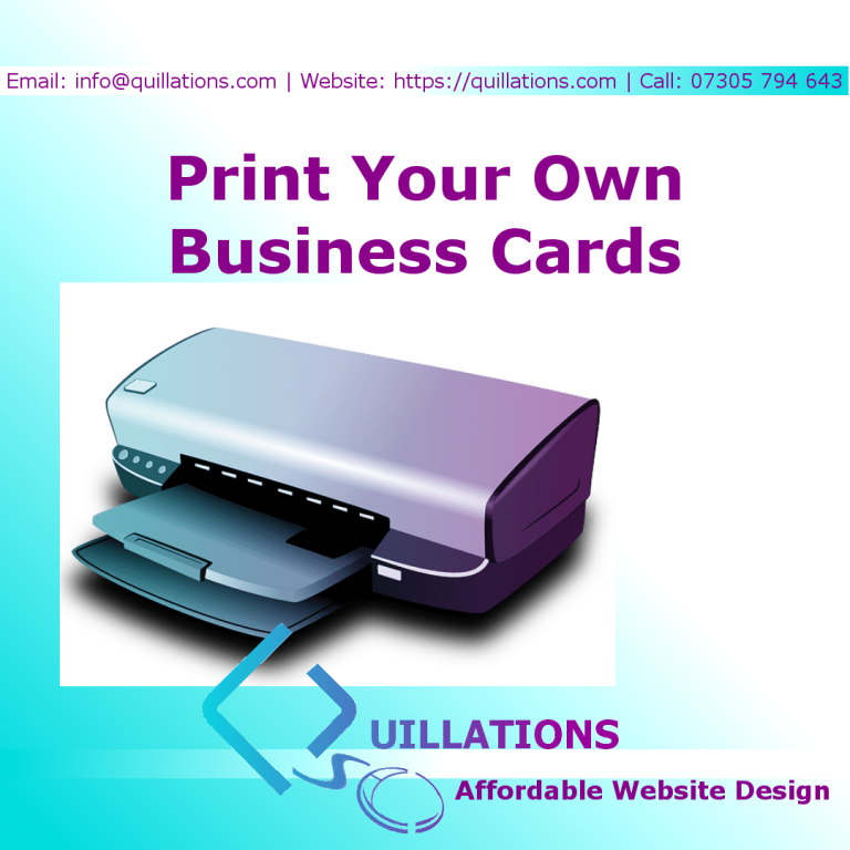 Print Your Own Business Cards