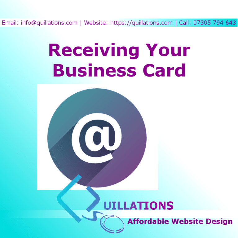 Receiving Your Business Card