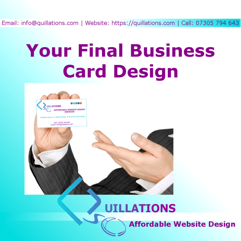 Your Final Business Card Design