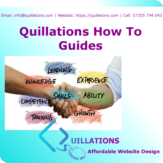 Quillations How To Guides