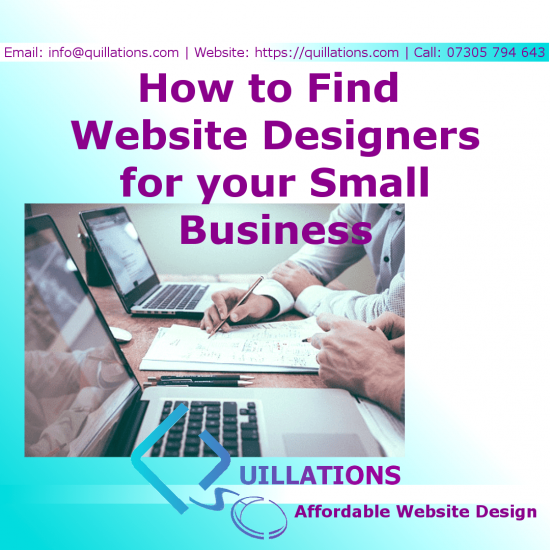 How to Find Website Designers for Small Business